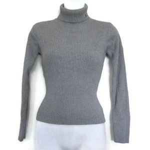 gray tommy hilfiger turtleneck sweater size small